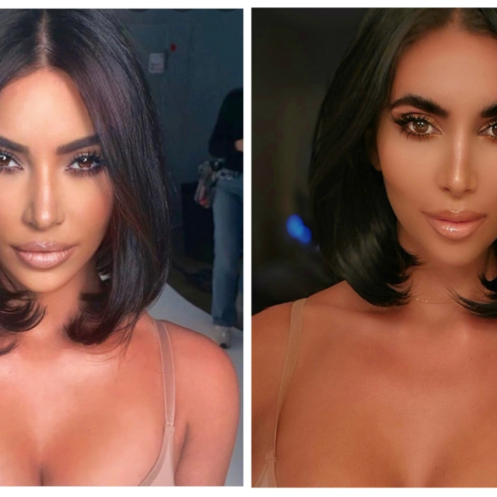 Kim Kardashian Look Alike