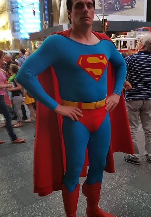 Christopher Reeves Superman Look Alike