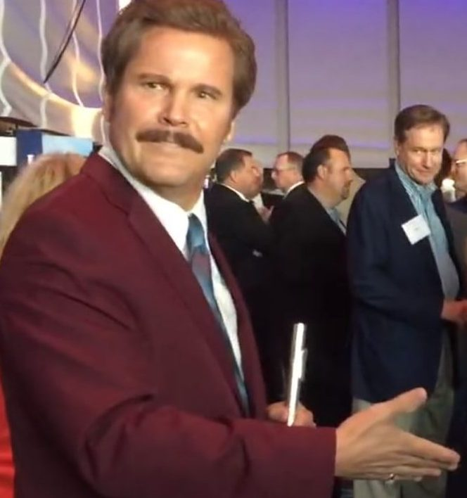 Anchorman Ron Burgundy Look Alike