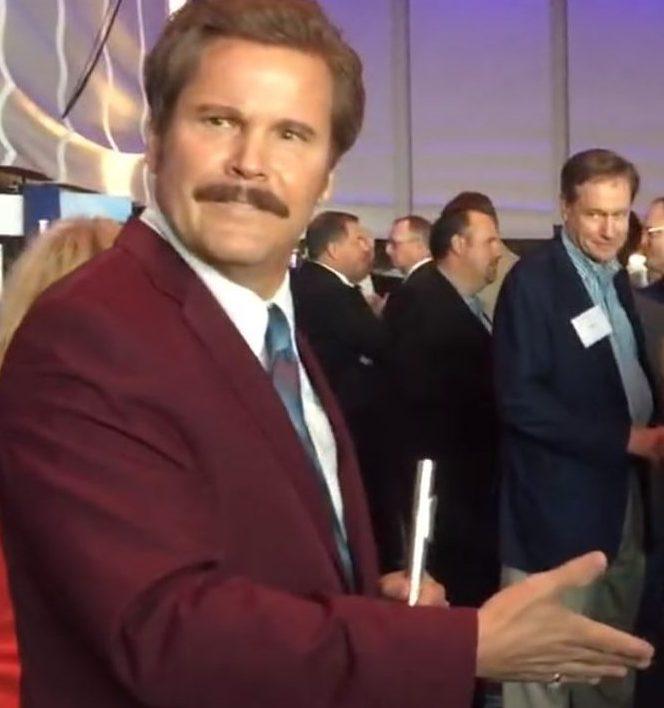 Anchorman Ron Burgundy Look Alike